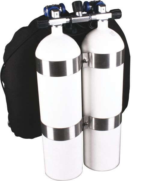 Dive Double Bottle 12l With Concave Bottom Tec Divesysteme