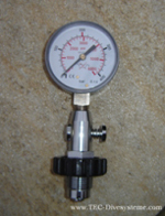 test manometer for dive bottles